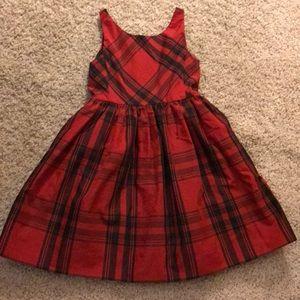 Black & red Ralph Lauren plaid satin gown, sz 6x
